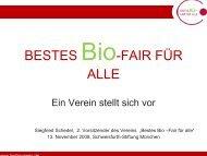 BESTES Bio-FAIR FÜR ALLE