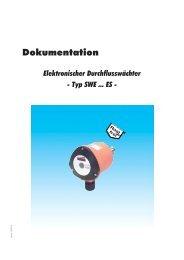 Dokumentation - Elektronischer Durchflusswächter - Typ ... - Atlas 7