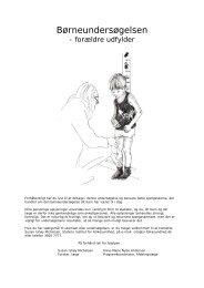 Bilag 4: Spørgeskema om børneundersøgelse - Sundhedsstyrelsen
