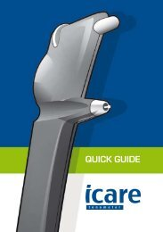 Icare TA01i quick guide in English