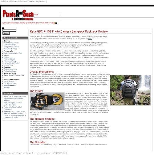 Kata GDC R-103 Photo Camera Backpack Rucksack ... - Kata.co.il