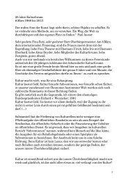 Kultur macht reich - Kulturforum Schorndorf