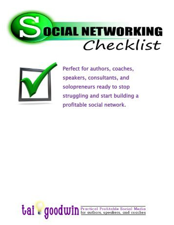 Social Networking Checklist - DivShare