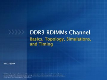 DDR3 RDIMMs Channel - Micron