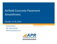 Airfield Concrete Pavement S th Smoothness
