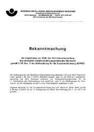 Bekanntmachung - Gemeinde-Unfallversicherungsverband Hannover
