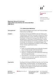 Reglement Ressort Forschung zmk bern (pdf, 907KB)