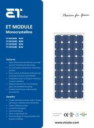 ET MODULE Monocrystalline ET-M53695 95W ET-M53690 90W ET ...