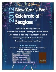 New Year's Eve! Celebrate at Seaglass