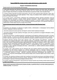 Krajowe priorytety i zasady administracyjne w selekcji ... - Grundtvig