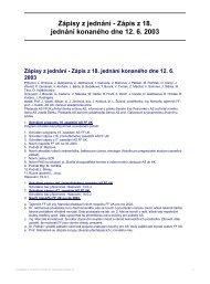 Zápisy z jednání - Zápis z 18. jednání konaného dne 12. 6. 2003
