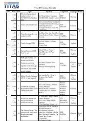 TITAS 2010 Seminar Timetable Date Time NO. Topic Speaker ...