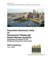 Executive Summary Only of Downtown Pittsburgh Retail Market ...