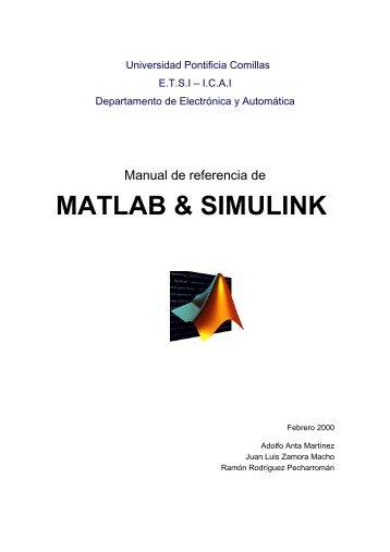 MATLAB & SIMULINK - Departamento de Electrónica y Automática