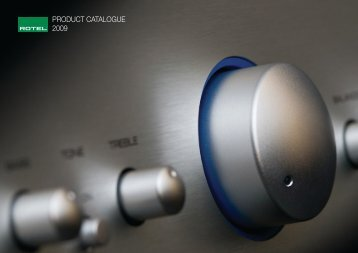 PRODUCT CATALOGUE 2009 - Reference Audio