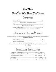 Our Menu Food That Will Make You Dance! - Woodlands Online