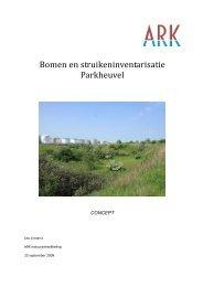 Bomen en struiken op de Parkheuvel - ARK Natuurontwikkeling