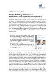Der Bericht Bildung in Deutschland – - Comenius-Institut