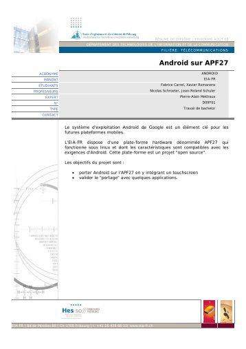 Android sur APF27 - EIA-FR