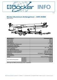 Böcker-Aluminium-Anhängerkran – AHK 25/800