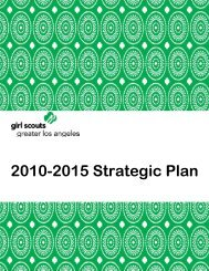 2010-2015 Strategic Plan - Girl Scouts of Greater Los Angeles