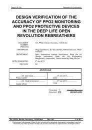 Study - Oxygen Sensor Performance in Rebreather Application