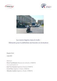 Les motos légères dans le trafic - Association Prévention Routière