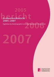 Evaluationsbericht 2005–2007 - Gemeinsamer Bundesausschuss