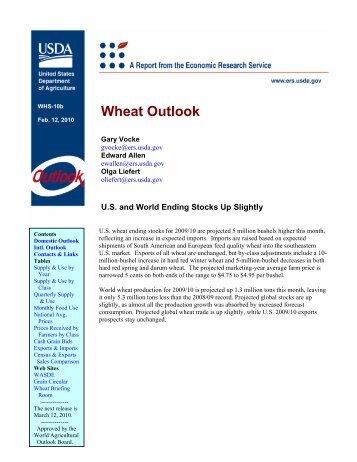 Wheat Outlook - USDA Economics and Statistics System