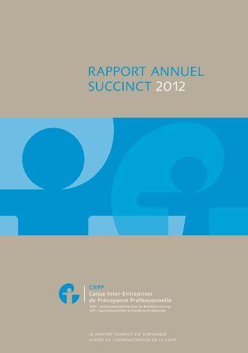 rapport annuel succinct 2012