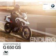 Katalog G 650 GS - BMW Motorrad in Berlin von Riller & Schnauck
