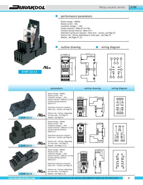 Durakool Relay Socket Pag