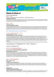 Montag, 21. Februar ´11 - Schools at University for Climate and Energy