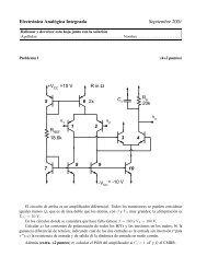 Electrónica Analógica Integrada Septiembre 2001 +V =10 V 2x -V ...