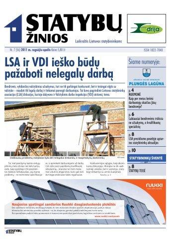 LSA ir VDI ieško būdų pažaboti nelegalų darbą - Statyk.eu