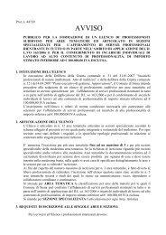 avviso integrale - Comune di Siena