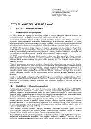 "LST TK 31 ""AKUSTIKA"" VEIKLOS PLANAS - Standartizacijos ..."