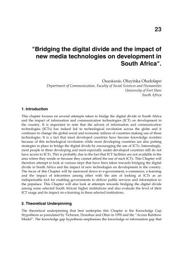 Bridging the Digital divide - Digital Knowledge Centre