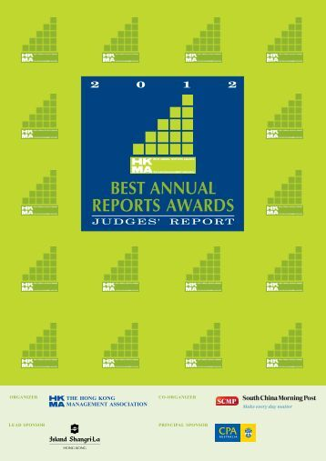 2012 Judges Report - Hong Kong Management Association