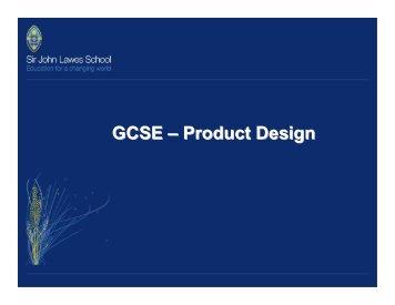 GCSE – Product Design