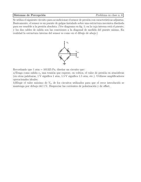 Sistemas De Percepción Problema En Clase N 6 Se Utiliza El
