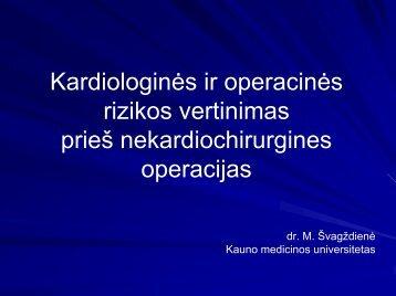 Kardiologinės ir operacinės rizikos vertinimas prieš ne ... - I-Manager