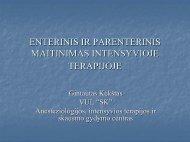 enterinis ir parenterinis maitinimas intensyvioje terapijoje - I-Manager