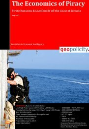Geopolicity - The Economics of Piracy - Pirates & Livelihoods off the ...