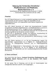 Satzung des Verbandes Christlicher ... - VCP Hannover