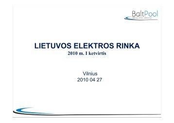 LIETUVOS ELEKTROS RINKA - I-Manager