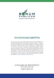 INVESTAVIMO KRYPTYS - I-Manager