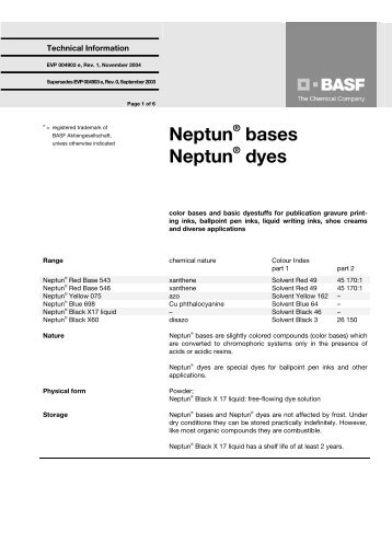 Neptun bases Neptun dyes