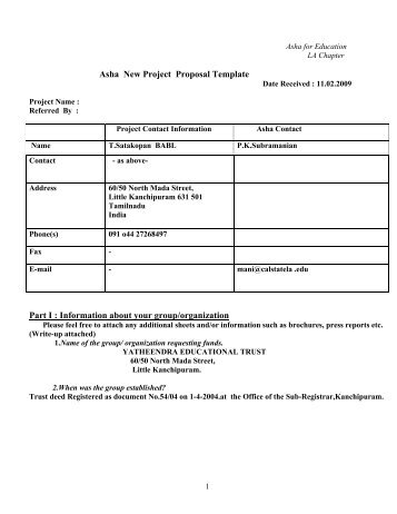 new project proposal template