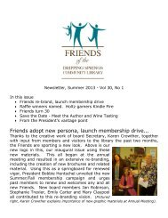 Newsletter_July 2013.pdf - Dripping Springs Community Library